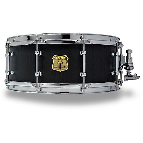 OUTLAW DRUMS Red Oak Stave Snare Drum with Chrome Hardware-thumbnail
