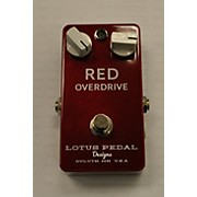 Lotus Red Overdrive Effect Pedal
