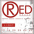 Red Strings Copper Bronze Acoustic Guitar Strings - Light (7312)