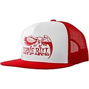 Ernie Ball Red & White Trucker Cap with Ernie Ball Eagle