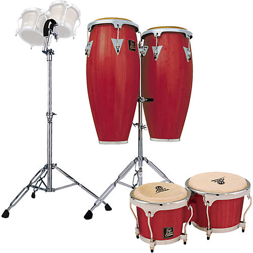 LP Redwood Aspire Conga Set with Bongos and Stand-thumbnail