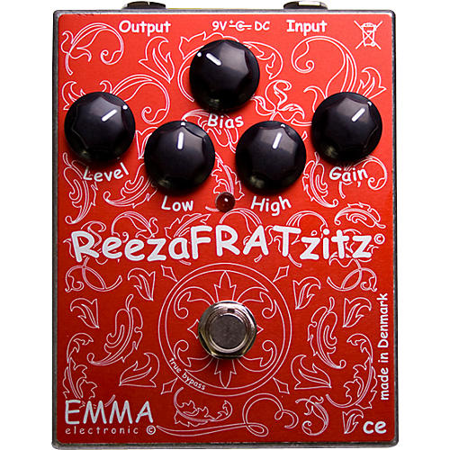 Emma Electronic ReezaFRATZzitz II Overdrive and Distortion Guitar Effects Pedal-thumbnail