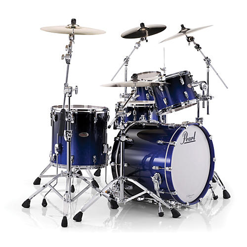 Pearl Reference 4-Piece Shell Pack Ultra Blue Fade with Chrome Hardware