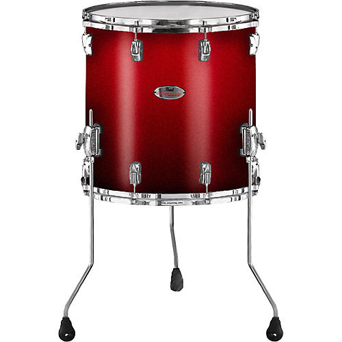 pearl reference floor tom drum scarlet fade 16 x 16 in