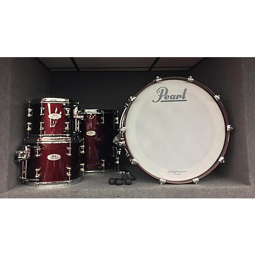 used pearl reference pure drum kit black cherry guitar center. Black Bedroom Furniture Sets. Home Design Ideas