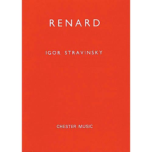 Chester Music Renard (Miniature Score) TTBB Composed by Igor Stravinsky