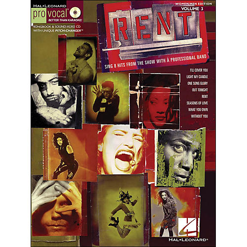 Hal Leonard Rent - Pro Vocal Series Songbook & CD for Women/Men Volume 3-thumbnail