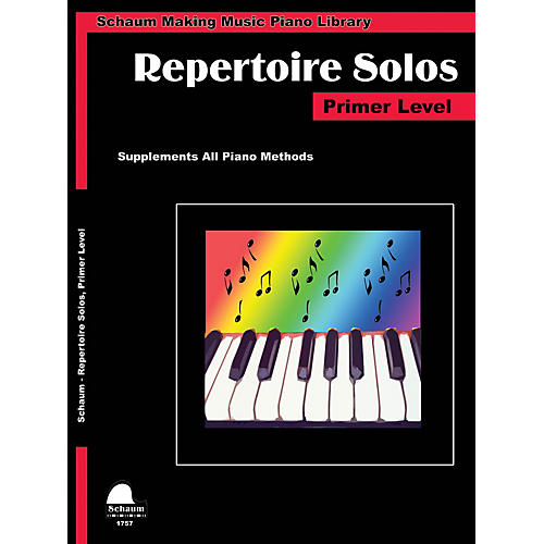 SCHAUM Repertoire Solos Primer Level Educational Piano Book by Wesley Schaum (Level Early Elem)