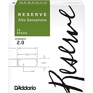 Daddario Woodwinds Reserve Alto Saxophone Reeds 10 Pack