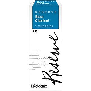 Daddario Woodwinds Reserve Bass Clarinet Reeds 5 Pack by D'Addario Woodwinds