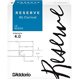 Daddario Woodwinds Reserve Bb Clarinet Reeds 10 Pack by D'Addario Woodwinds