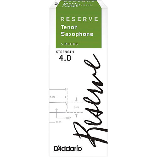D'Addario Woodwinds Reserve Tenor Saxophone Reeds 5-Pack