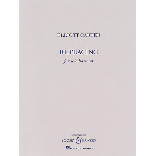 Boosey and Hawkes Retracing (for Solo Bassoon) Boosey & Hawkes Chamber Music Series Softcover