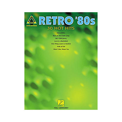 Hal Leonard Retro '80s Guitar Tab Book