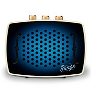 Retro-Design Bluetooth Speaker with 40 Ft.  Range, 8 Hr. Playtime and Rechargeable Battery Midnight Blue