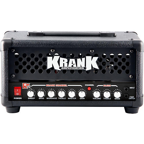 Krank Rev Jr. Pro 20W Tube Guitar Amp Head Black Black Grill