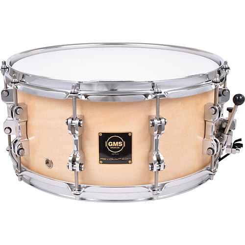 GMS Revolution Maple/Brass Snare Drum-thumbnail