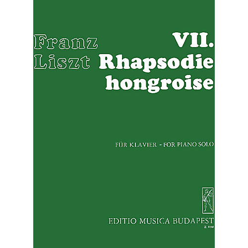 Editio Musica Budapest Rhapsodie Hongroise #7-pno EMB Series Composed by Franz Liszt