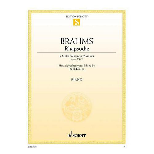 Schott Rhapsody in G Minor, Op. 79, No. 2 Schott Series