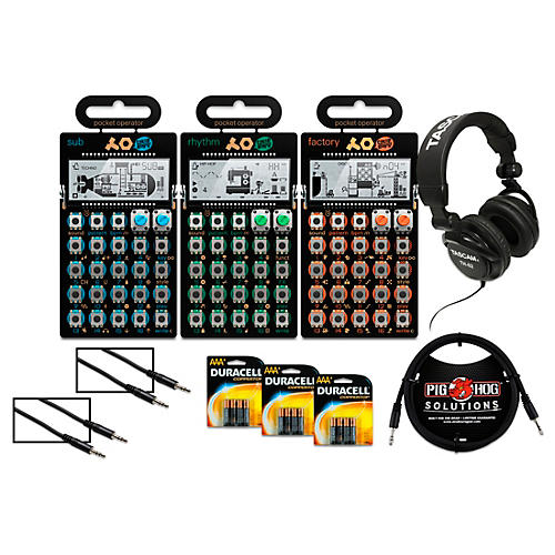 Teenage Engineering Rhythm, Sub, and Factory Pocket Operators with Batteries, Headphones, and Cables-thumbnail