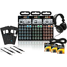 Teenage Engineering Rhythm, Sub, and Factory Pocket Operators with Cases, Batteries, Headphones, and Cables