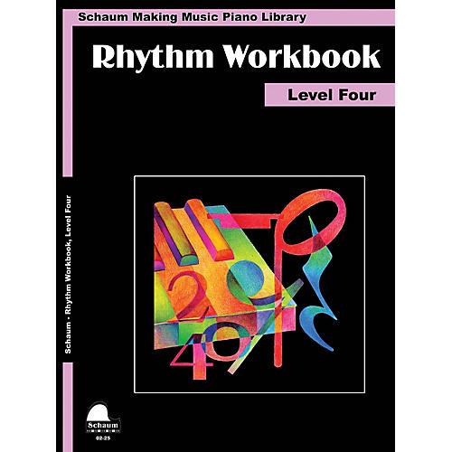 SCHAUM Rhythm Workbook (Level 4) Educational Piano Book by Wesley Schaum (Level Inter)