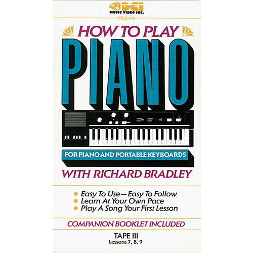 Alfred Richard Bradley How to Play Piano 3 (VHS)-thumbnail