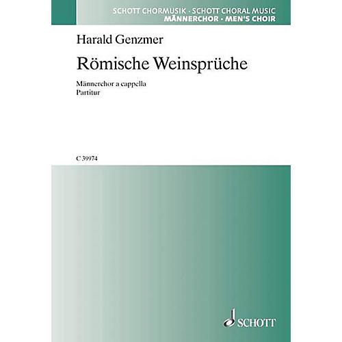 Schott Römische Weinsprüche TTBB Composed by Harald Genzmer