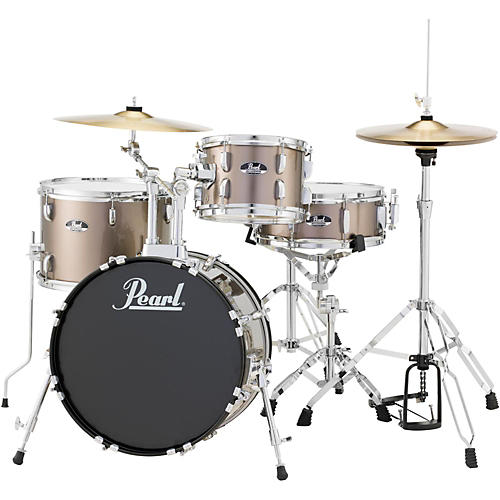 Pearl Roadshow 4-Piece Jazz Drum Set Bronze Metallic