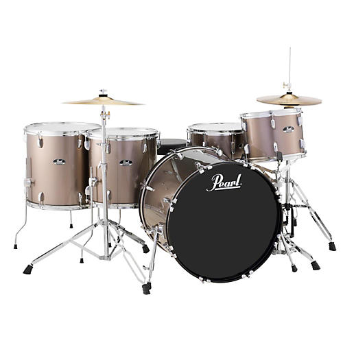 Pearl Roadshow 5-Piece Rock Drum Set Bronze Metallic-thumbnail