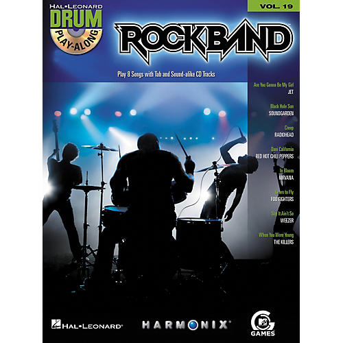 Hal Leonard Rock Band - Modern Rock Edition - Drum Play-Along Volume 19 Book/CD Set-thumbnail