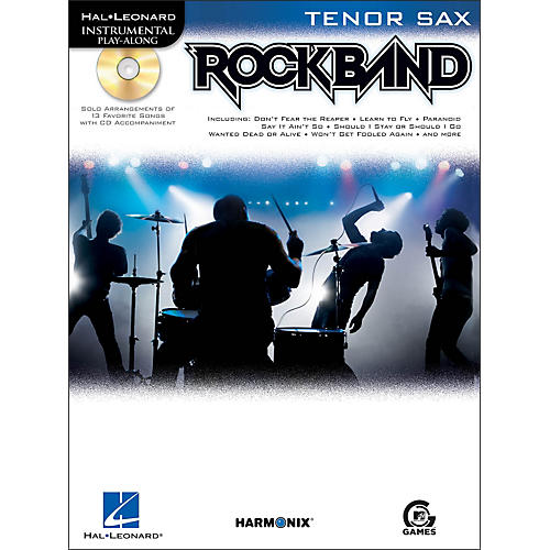 Hal Leonard Rock Band for Tenor Sax Instrumental Play-Along Book/CD-thumbnail