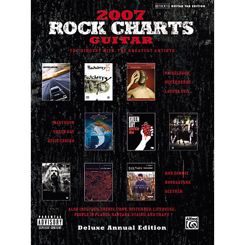 Alfred Rock Charts Guitar Tab Songbook 2007: Deluxe Annual Edition-thumbnail