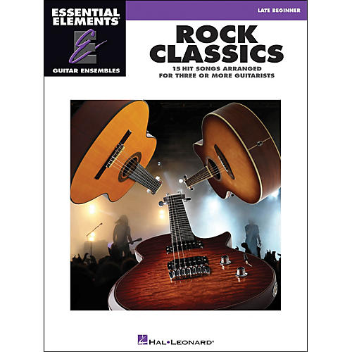 Hal Leonard Rock Classics - Essential Elements Guitar Ensembles Late Beginner-thumbnail