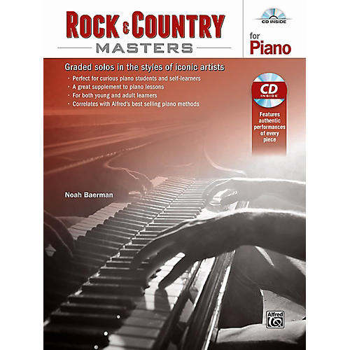 Alfred Rock & Country Masters for Piano - Book & CD-thumbnail