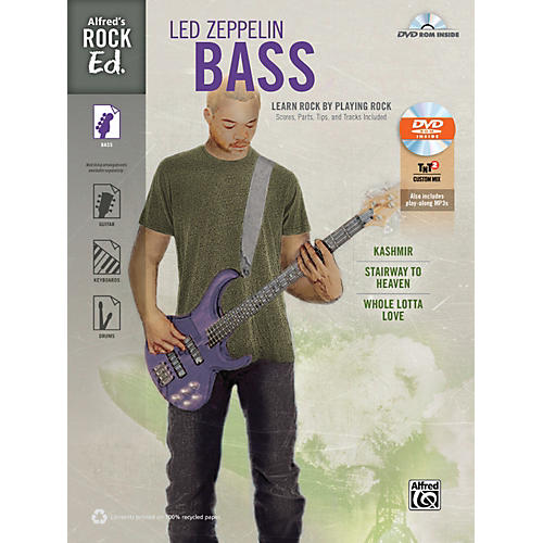 Alfred Rock Ed.: Led Zeppelin Bass Book & DVD-ROM