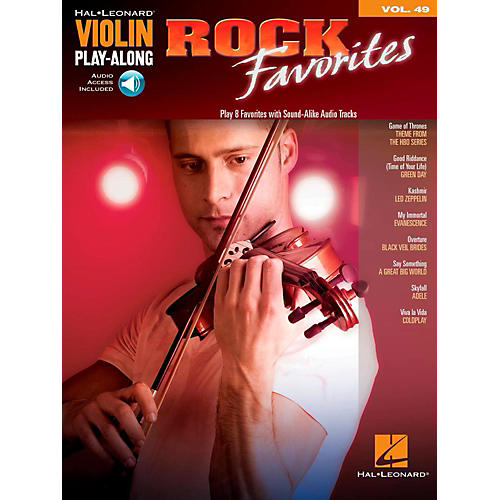 Hal Leonard Rock Favorites - Violin Play-Along Volume 49 Book/Online Audio-thumbnail