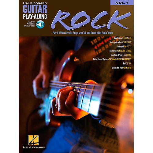 Hal Leonard Rock Guitar Play-Along Book with CD Volume 1-thumbnail