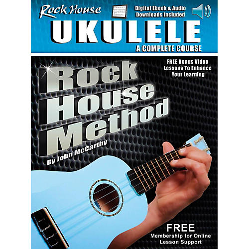 Rock House Rock House Method Learn Ukulele - A Complete Course Book With Audio/Video Online-thumbnail