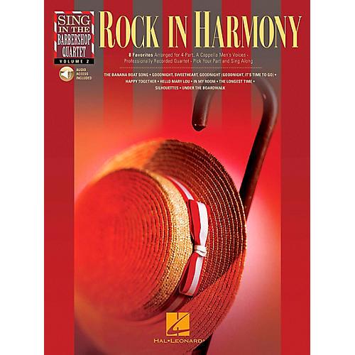 Hal Leonard Rock In Harmony - Sing In The Barbershop Quartet Series Vol. 2 Book/CD