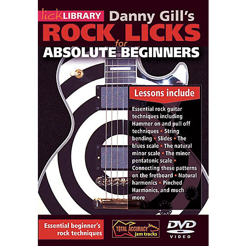 Hal Leonard Rock Licks For Absolute Beginners - Lick Library DVD