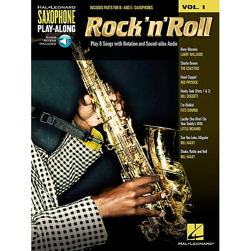 Hal Leonard Rock 'N' Roll - Saxophone Play-Along Vol. 1 Book/CD-thumbnail