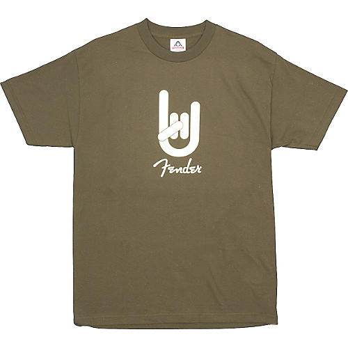 Fender Rock On T-Shirt Army Green Extra Extra Large