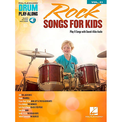 hal leonard rock songs for kids drum play along volume 41 book audio online guitar center. Black Bedroom Furniture Sets. Home Design Ideas