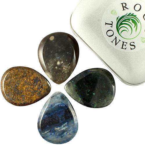 Timber Tones Rock Tones Mixed Tin of 4 Guitar Picks-thumbnail