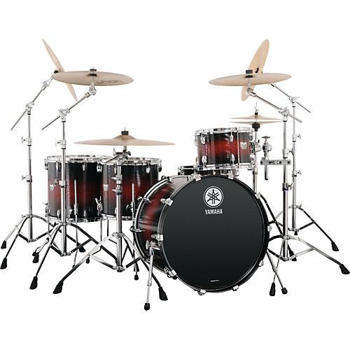 Yamaha rock tour 5 piece shell pack textured green for Yamaha dtx450k 5 piece electronic drum kit
