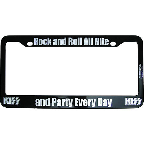 KISS Rock and Roll All Nite License Plate Frame-thumbnail