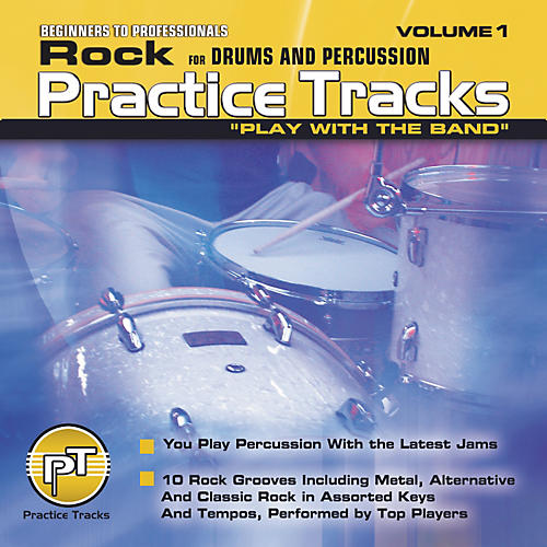 Practice Tracks Rock for All Drums Percussion (CD)