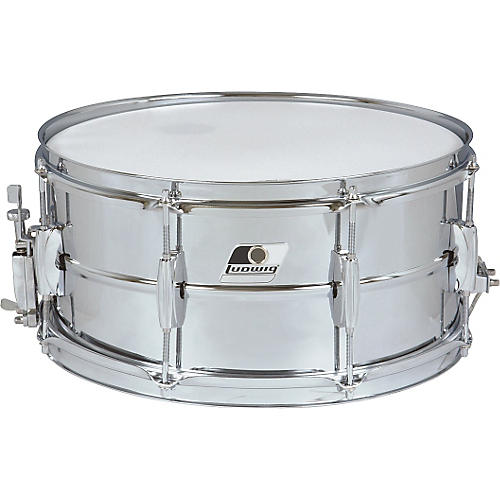 Ludwig Rocker Steel Shell Snare Drum-thumbnail