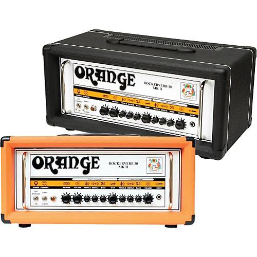 Orange Amplifiers Rockerverb 50 MK II 50W Tube Guitar Amp Head Black